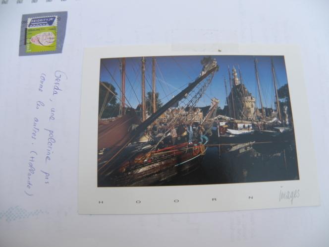 La carte envoyée par Gerda, une pélerine hollandaise.